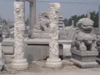 石雕龙柱/龙柱雕刻