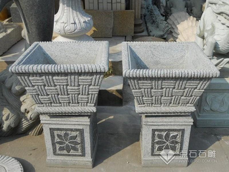 石雕花盆 石花盆