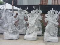 四大天王石雕像雕塑