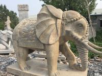 做旧石雕大象