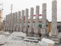 石雕十二生肖柱