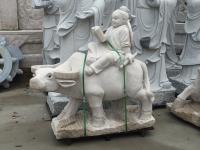 石雕牧童放牛