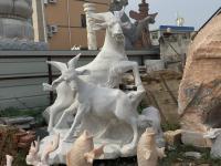 石雕山羊开泰