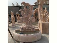 石雕荷花鱼缸
