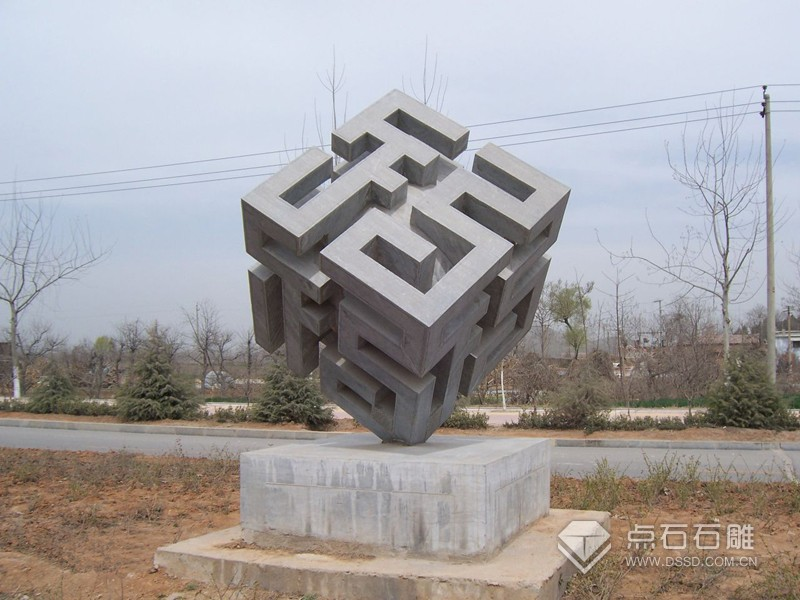 石雕六面福