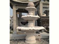 石雕喷泉风水球