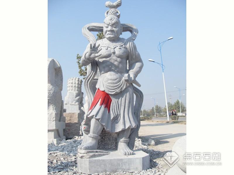 石雕哼哈二将(未上色)