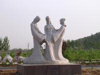 鲁锦传说石雕像雕塑