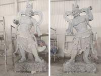 哼哈二将石雕像雕塑