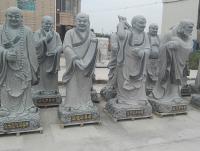十八罗汉石雕像雕塑